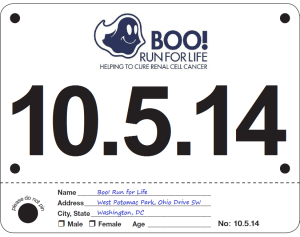 Boo! Run for Life - October 5, 2014
